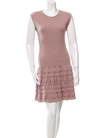 Philosophy di Alberta Ferretti Textured Knit Wool Dress None