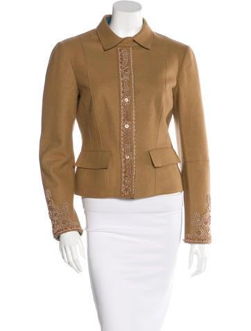 Philosophy di Alberta Ferretti Embellished Wool Jacket None