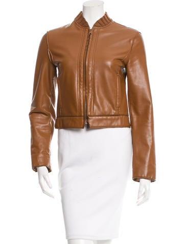 Philosophy di Alberta Ferretti Fitted Vegan Leather Jacket None