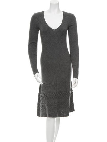 Philosophy di Alberta Ferretti Wool Long Sleeve Sweater Dress None
