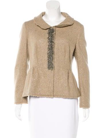 Philosophy di Alberta Ferretti Embellished Single-Breasted Jacket None