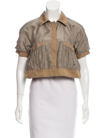 Philosophy di Alberta Ferretti Cropped Reversible Jacket None