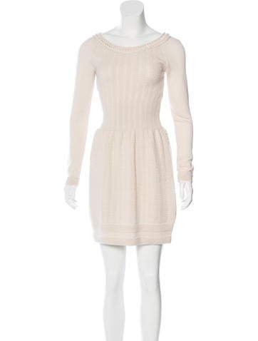 Philosophy di Alberta Ferretti Long Sleeve Wool Dress None
