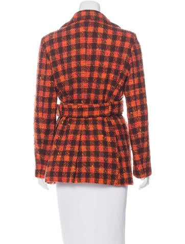 Virgin Wool Tweed Coat