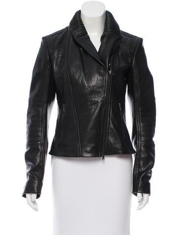 Philosophy di Alberta Ferretti Leather Moto Jacket w/ Tags None