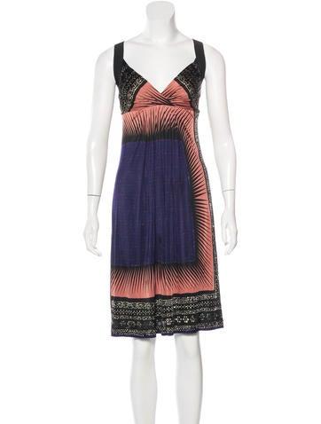 Philosophy di Alberta Ferretti Printed Sleeveless Dress None