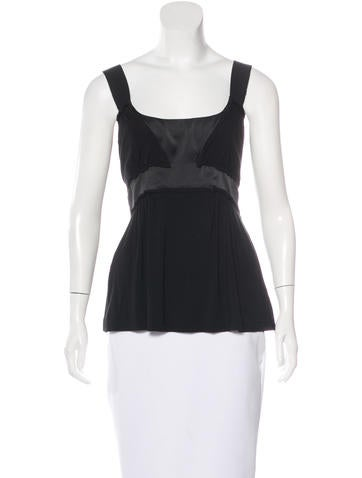 Philosophy di Alberta Ferretti Sleeveless Scoop Neck Top None
