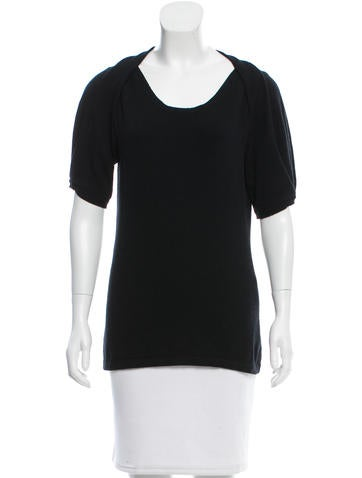 Philosophy di Alberta Ferretti Short Sleeve Knit Top None
