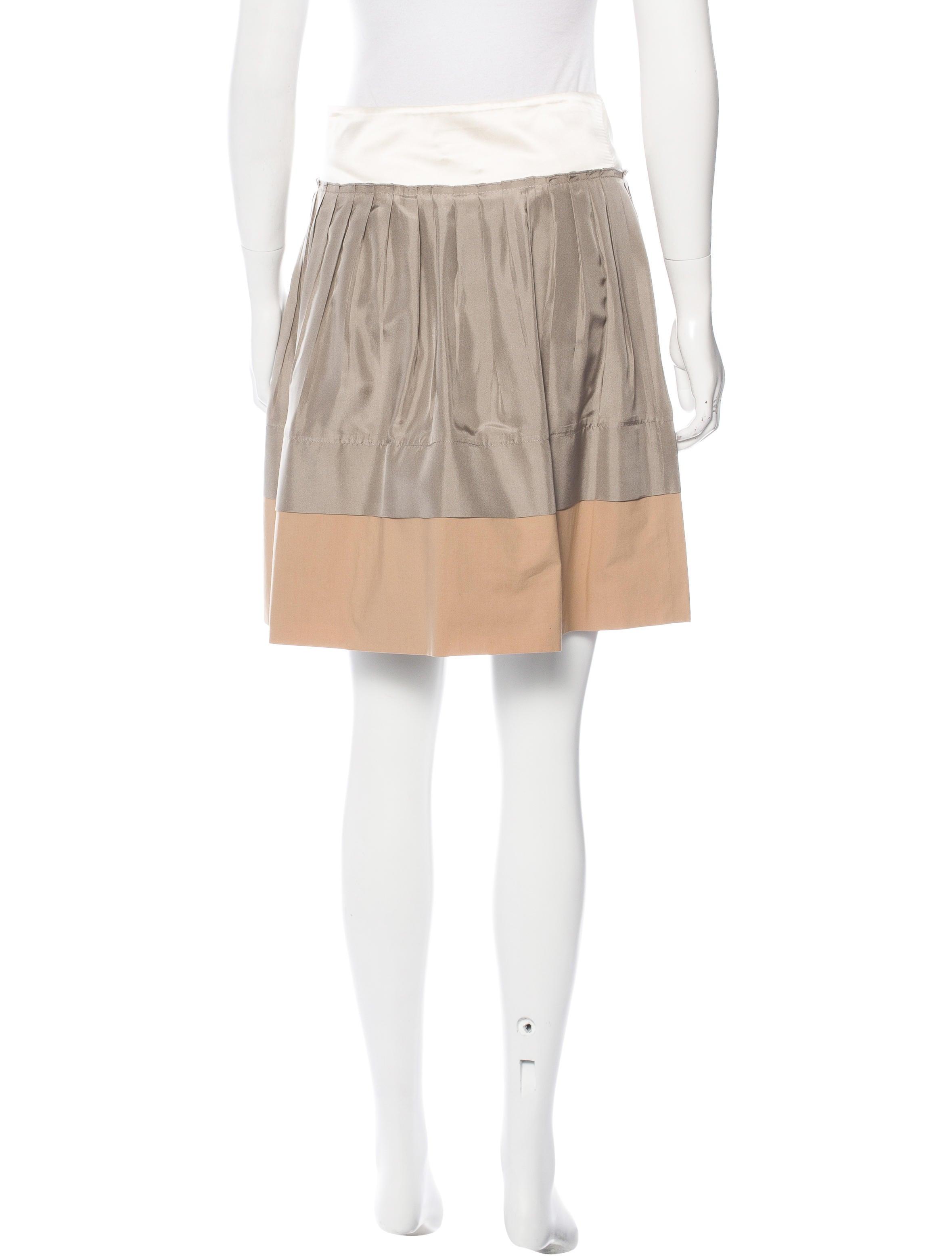 philosophy di alberta ferretti pleated silk skirt skirts