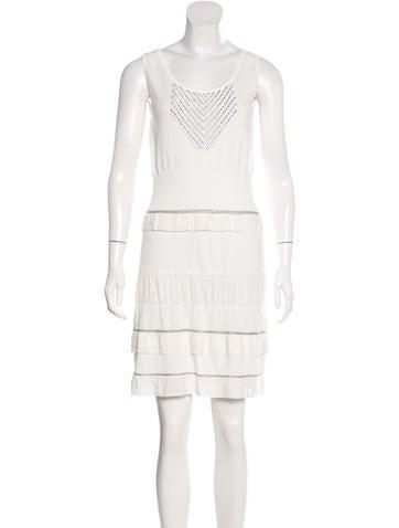 Philosophy di Alberta Ferretti Embellished Sleeveless Dress None