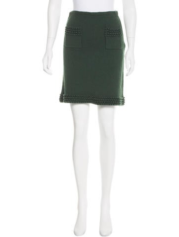 Philosophy di Alberta Ferretti Rib Knit Knee-Length Skirt None