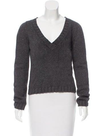 Philosophy di Alberta Ferretti Cropped V-Neck Sweater None