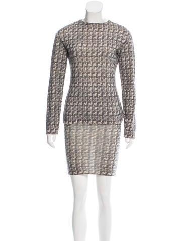 Philosophy di Alberta Ferretti Wool Knit Skirt Set None