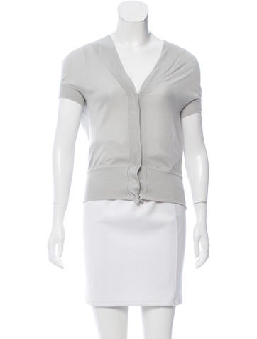 Philosophy di Alberta Ferretti Short Sleeve Button Up Cardigan None