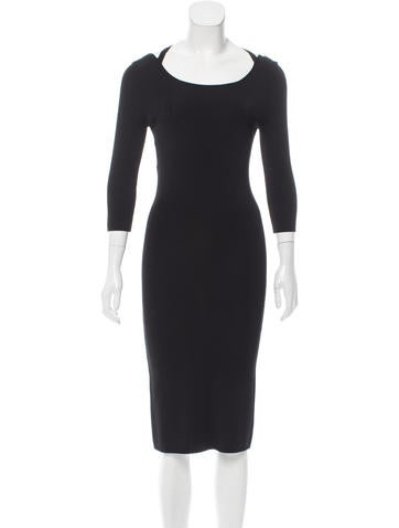 Philosophy di Alberta Ferretti Rib Knit Midi Dress None