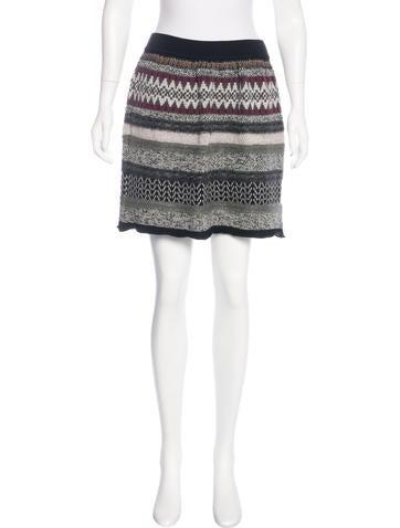 Philosophy di Alberta Ferretti Knit Wool Skirt None