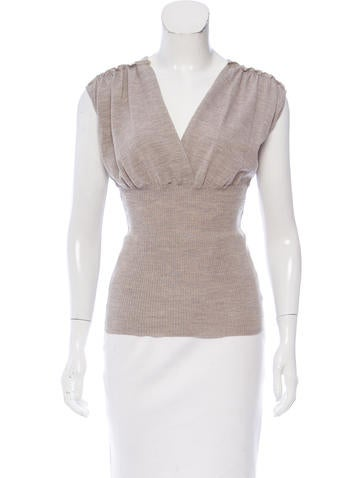 Philosophy di Alberta Ferretti Sleeveless Wool Knit Top None