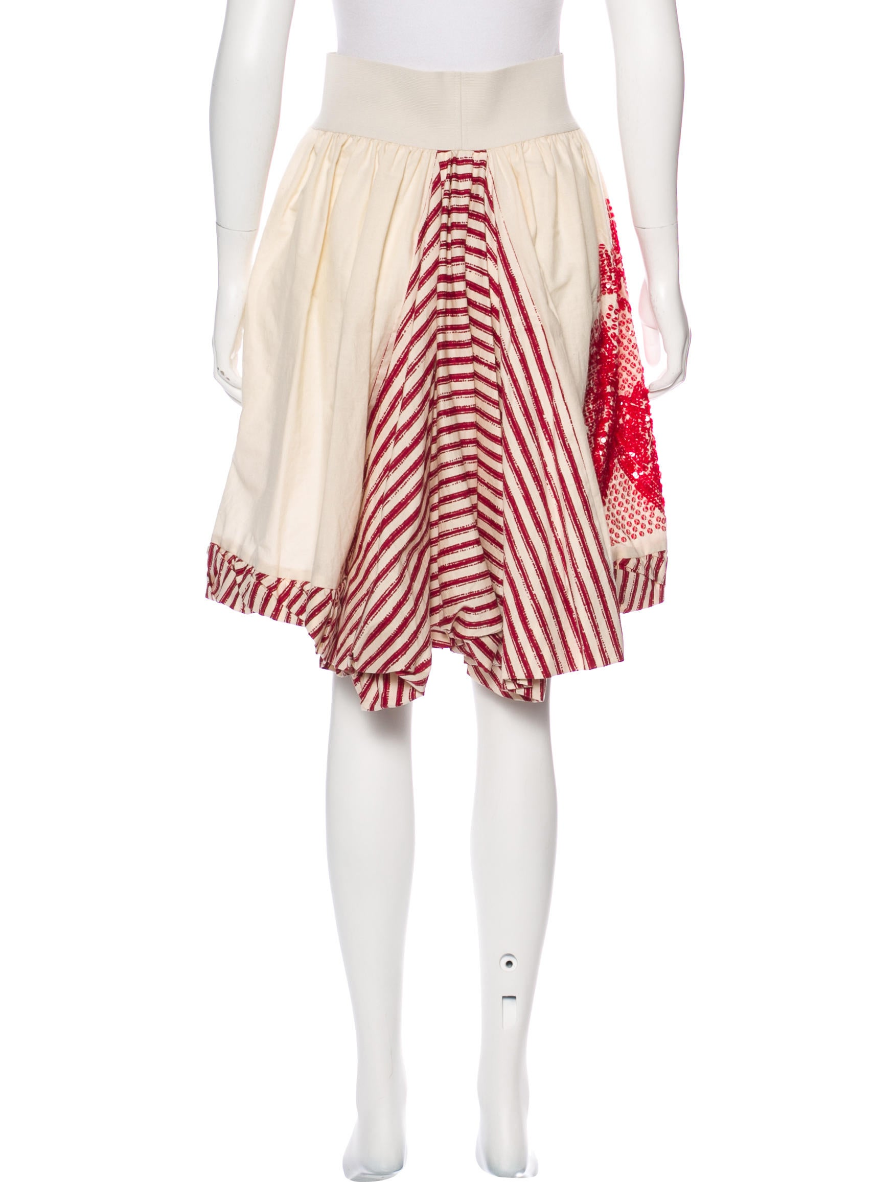 philosophy di alberta ferretti sequined knee length skirt