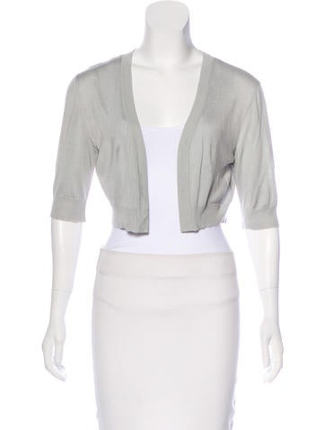 Philosophy di Alberta Ferretti Short Sleeve Open-Knit Shrug None