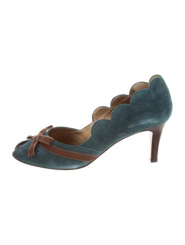 Philosophy di Alberta Ferretti Suede Peep-Toe Pumps free shipping manchester great sale online shop from china visit new sale online outlet latest collections WC09IRyRe