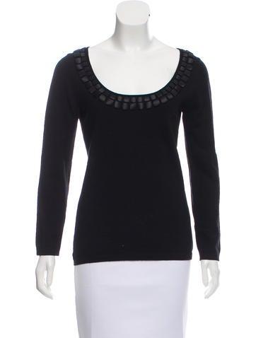Philosophy di Alberta Ferretti Embellished Wool Sweater None
