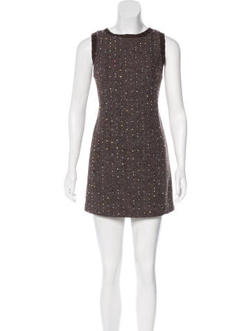 Philosophy di Alberta Ferretti Wool Polka Dot Dress None