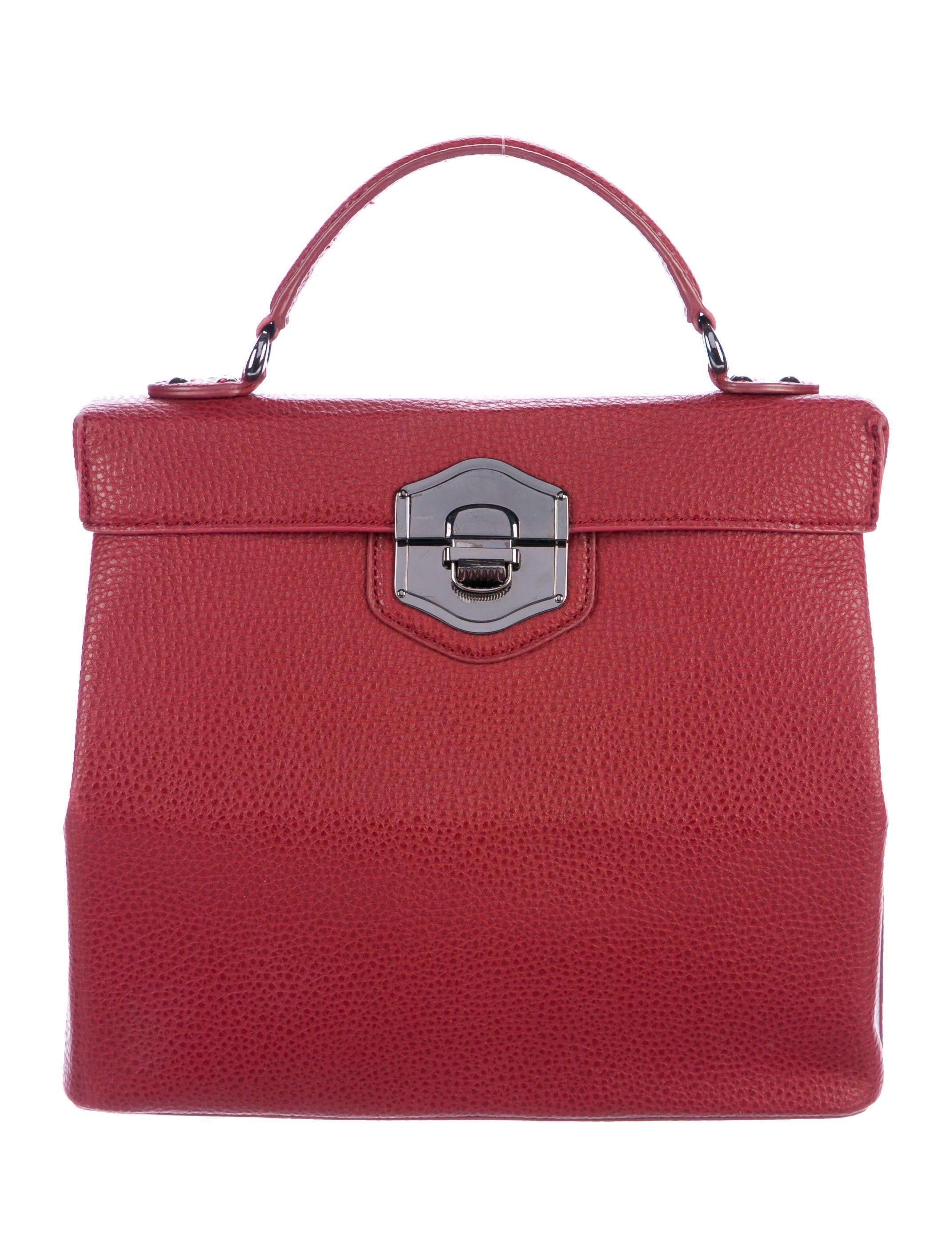 Women Handbags Philosophy Di Alberta Ferretti Leather Box Satchel