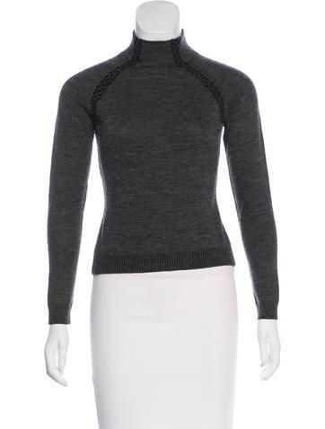 Philosophy di Alberta Ferretti Embellished Virgin Wool Sweater None