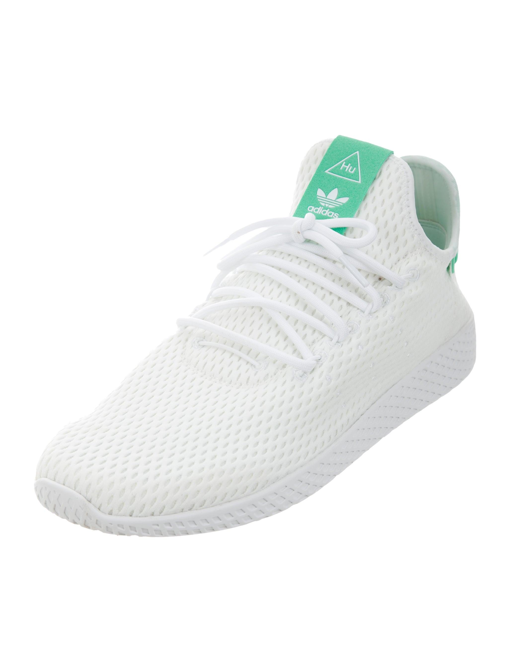 Pharrell williams x adidas mesh tennis hu sneakers w tags for Fish tennis shoes