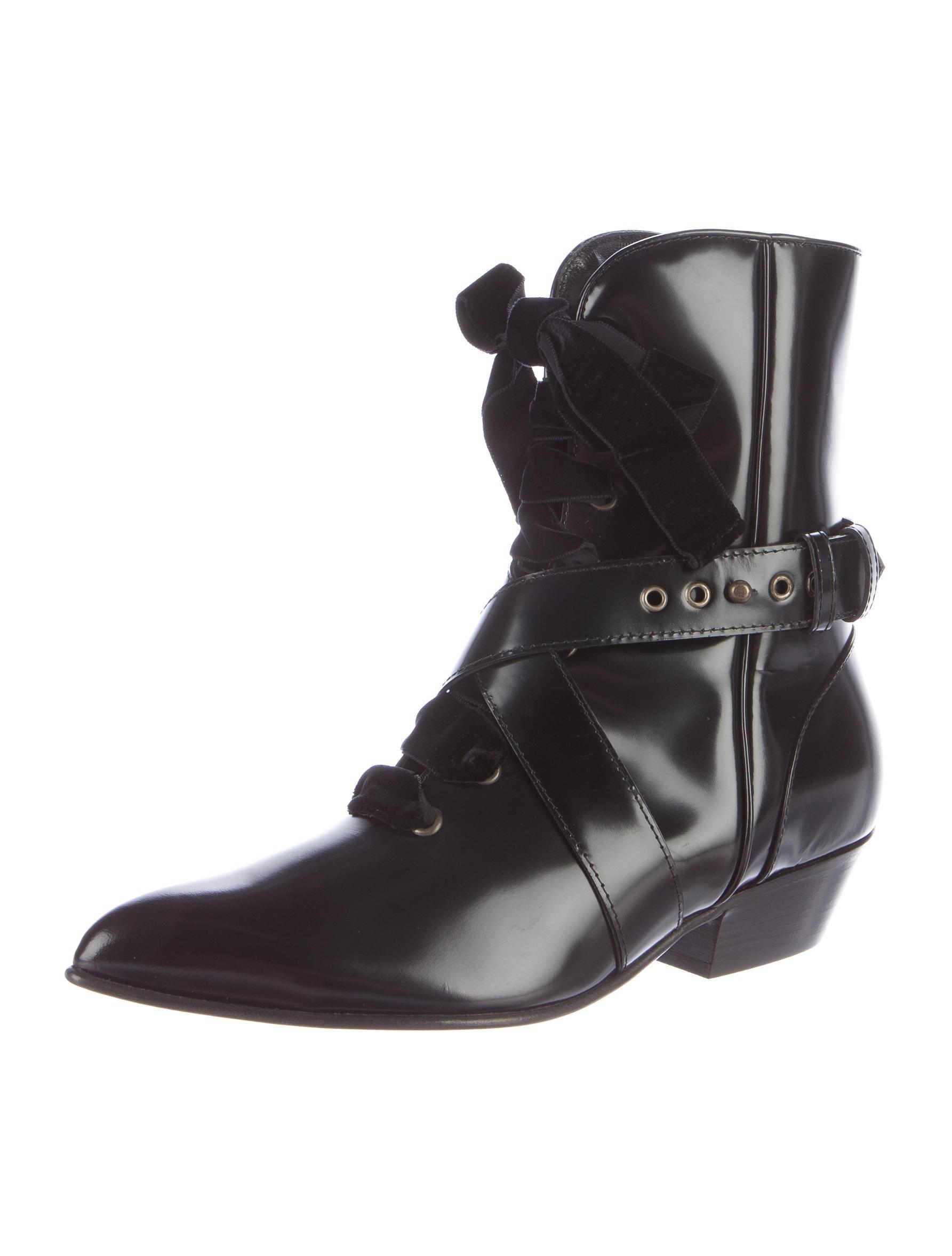 Philosophy di Lorenzo Serafini Patent Leather Pointed-Toe Boots cheap classic ZiOdKHx