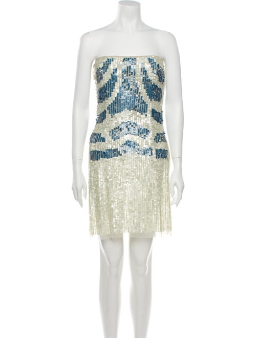 Patrizia Pepe Colorblock Pattern Mini Dress