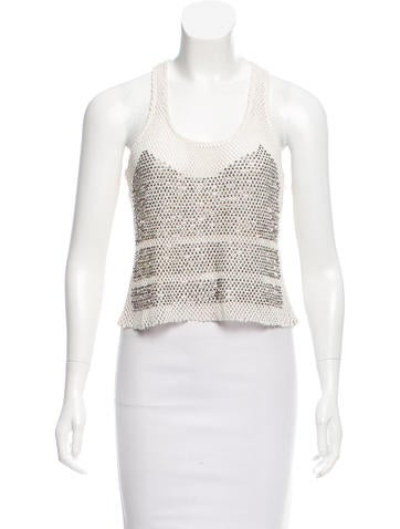 Parker Sleeveless Embellished Top w/ Tags None