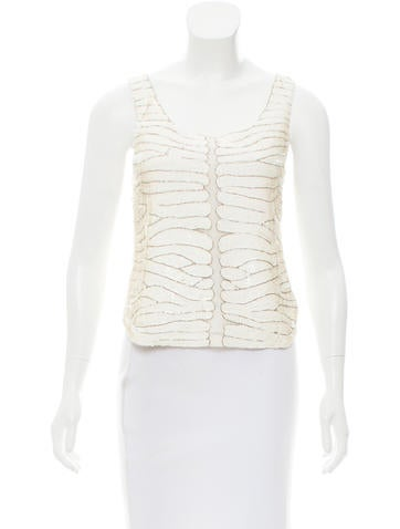 Parker Embellished Sleeveless Top None