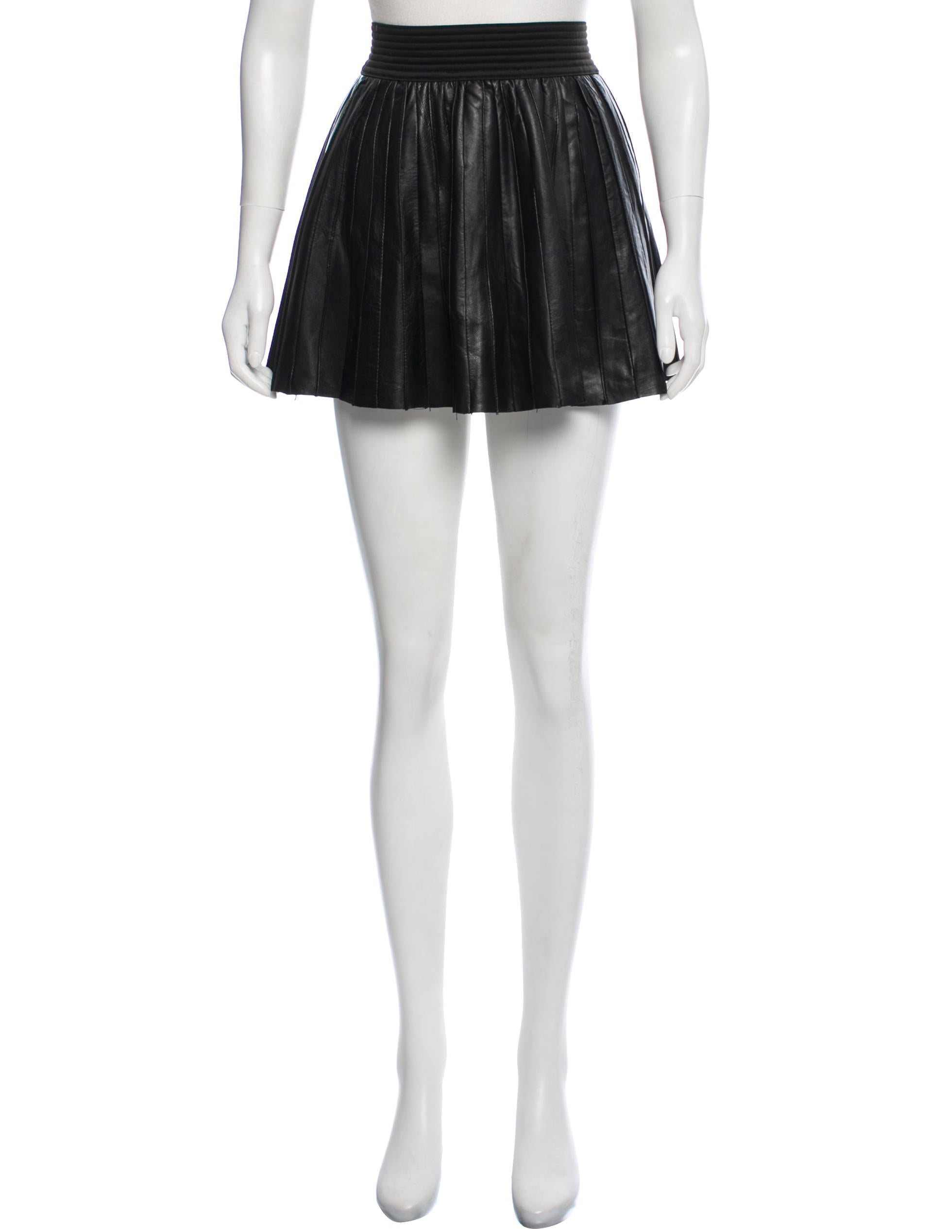 a4b03a56e2 Parker Pleated Leather Mini Skirt - Clothing - WPK27444 | The RealReal