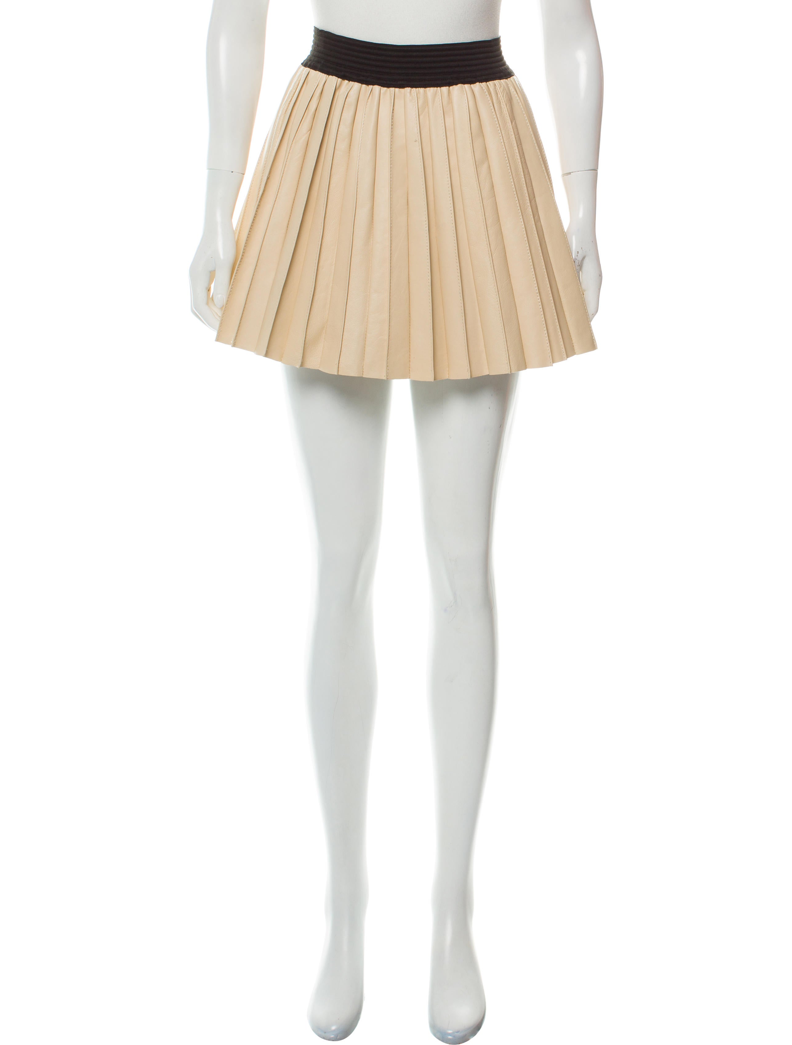 76c7846be1 Parker Leather Pleated Skirt - Clothing - WPK27697 | The RealReal