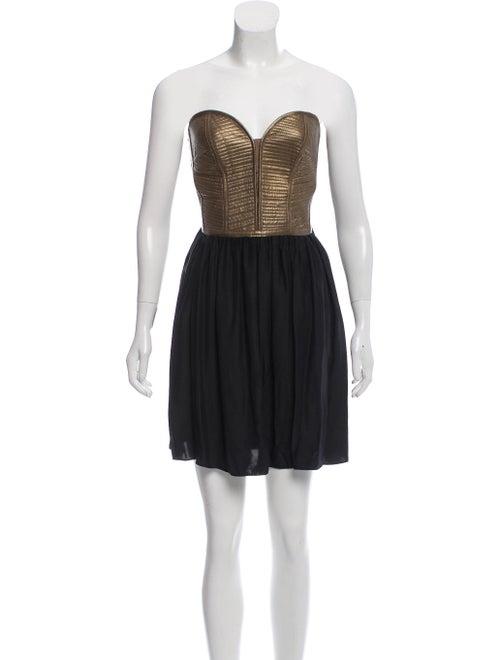 Parker Sweetheart Mini Dress Black