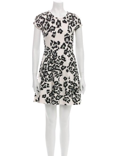 Parker Animal Print Mini Dress Black