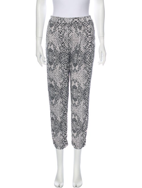 Parker Animal Print Straight Leg Pants Black