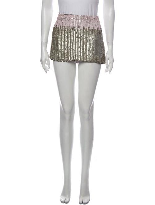 Parker Silk Mini Skirt Metallic