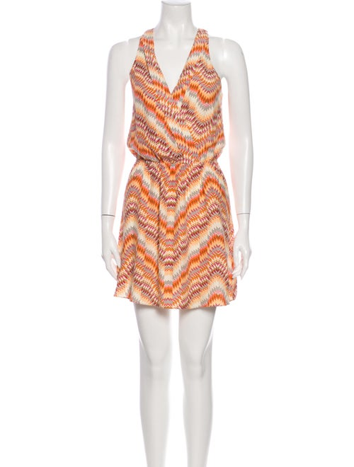 Parker Silk Mini Dress Orange