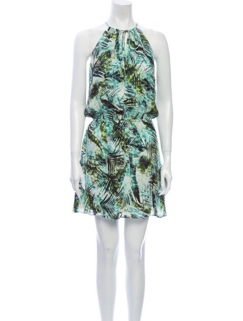 Parker Silk Mini Dress Green