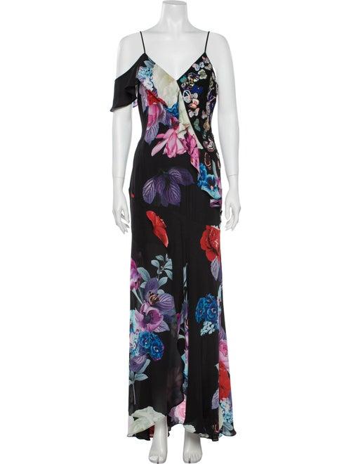 Parker Silk Long Dress Black