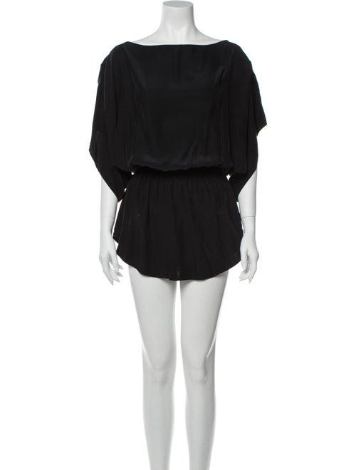 Parker Silk Mini Dress Black