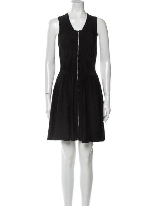 Parker Scoop Neck Mini Dress Black