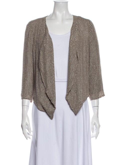 Parker Silk Tweed Pattern Jacket Grey