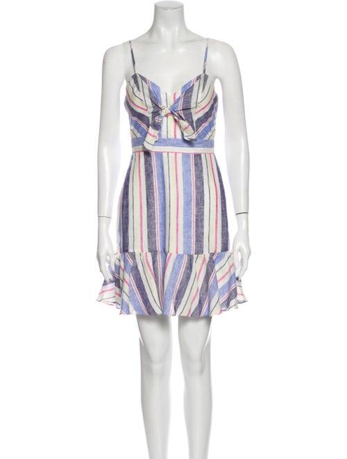 Parker Linen Mini Dress Blue