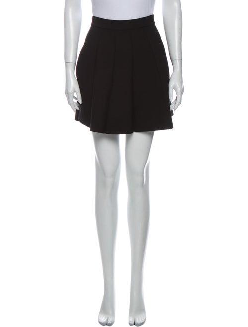 Parker Pleated Accents Mini Skirt Black