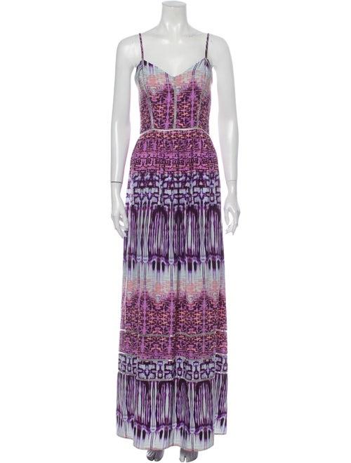 Parker Silk Long Dress Purple