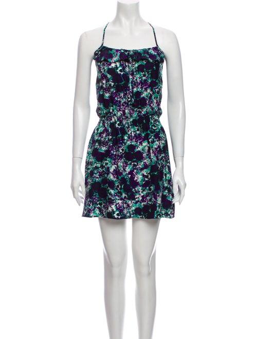 Parker Silk Mini Dress Purple