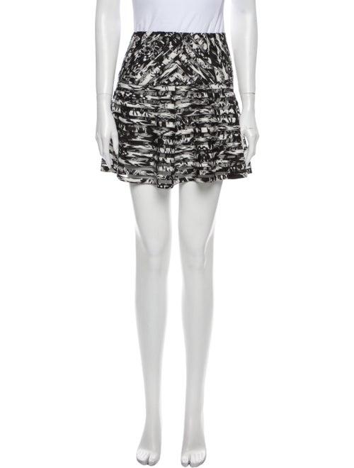 Parker Printed Mini Skirt Black